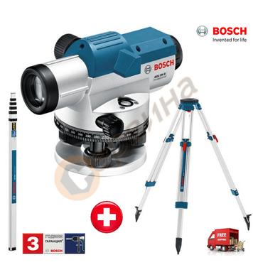 Комплект оптичен нивелир Bosch GOL 26 G + Статив BT 160 + Ла
