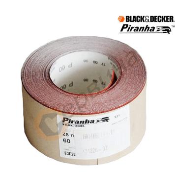 Шкурка на руло Black&Decker/Piranha X31226 60G 93x25м