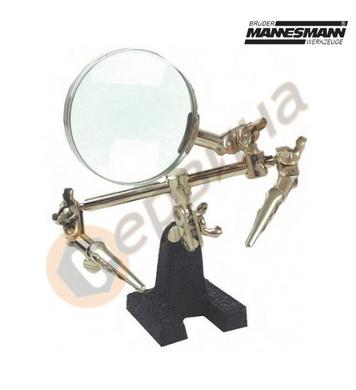 Стойка с лупа и щипки Mannesmann M572