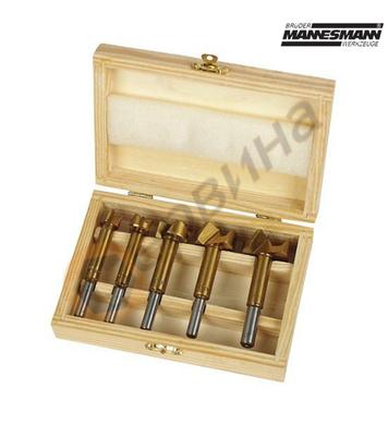Комплект титанови фрези за дърво Mannesmann M54005 - 5бр