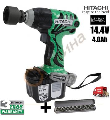 Акумулаторен ударен гайковерт Hitachi WR14DLTW - 14.4V/4.0Ah