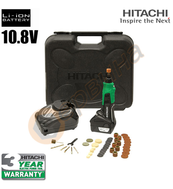 Акумулаторен прав шлайф Hitachi GP10DL - 10.8V/1.5Ah Li-Ion