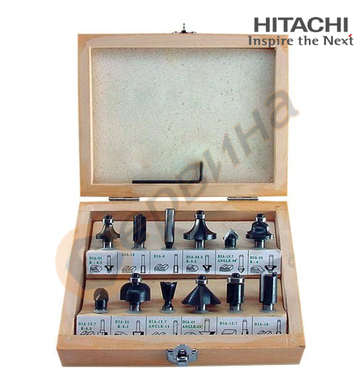 Комплект фрези за дърво Hitachi 711016 - ф6мм