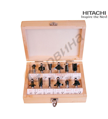 Комплект фрези за дърво Hitachi 500507 - ф8мм