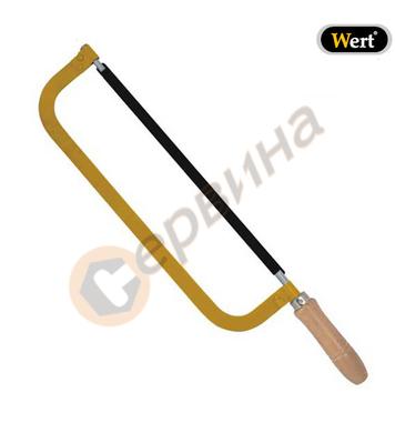 Ножовка с ергономична ръкохватка дървена дръжка Wert W2534 -