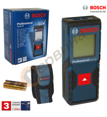Лазерен ролетка Bosch GLM 30 0601072500 - 30м