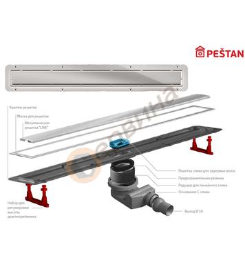 Линеен сифон Pestan Confluo Premium Line 13100004 - 650мм