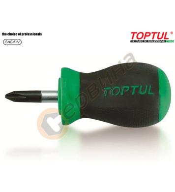 Професионална кръстата къса отвертка Toptul FCBB0103 - PZ1x2