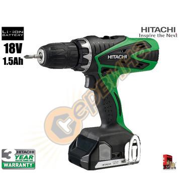 Акумулаторен винтоверт Hitachi DS18DSFL - 18V/1.5Ah/Li-Ion