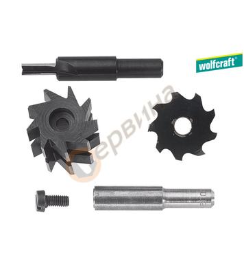 Комплект фрезери за нут и федер Wolfcraft 3254000 - ф 8.0 мм