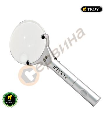 Лупа с 2бр. светодиода Troy T28900 - 90мм