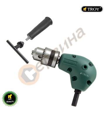 Правоъгълен ъглов адаптер-адаптор за бормашина Troy T90000 -