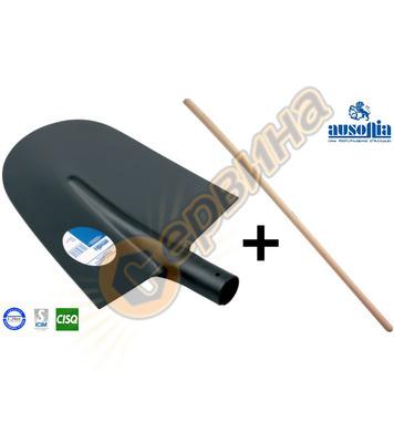 Строителна лопата Ausonia AU84653 + Дървена дръжка - 27x27 с