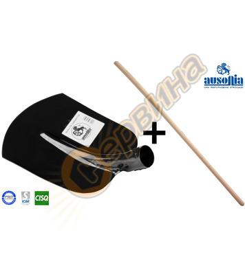 Строителна лопата Ausonia AU84662 + Дървена дръжка - 27x23 с