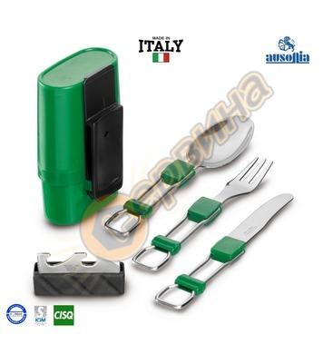 Къмпинг сет прибори за хранене вилица-нож-лъжица-отварачка I
