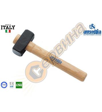Ударен каменарски чук с дървена дръжка Ausonia AU45155 - 1кг