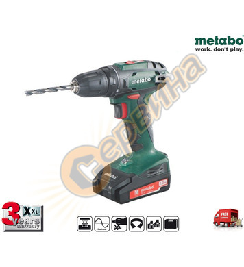 Акумулаторен винтоверт Metabo BS 18 602207500 - 18V/1.3Ah Li