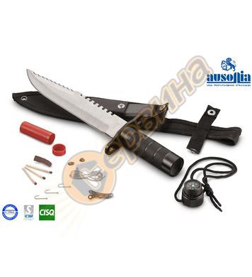 Нож за лов сървайвър Ausonia Survival AU28316 Inox - 20см