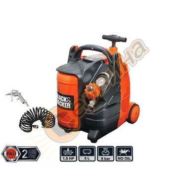 Компресор Black&Decker BD195-5-MY-T - 5л/8бара