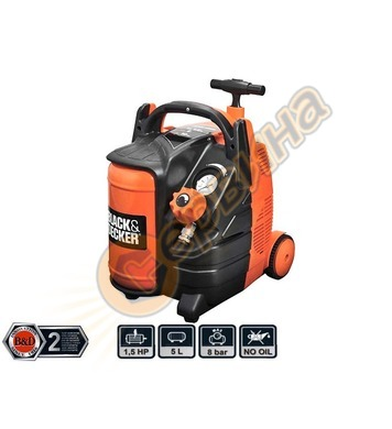 Компресор Black&Decker BD195-6-MY - 5л/8бара