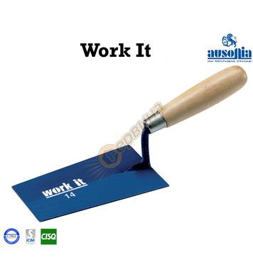 Мистрия с дървена дръжка Work-It Ausonia AU41130 - 12 см