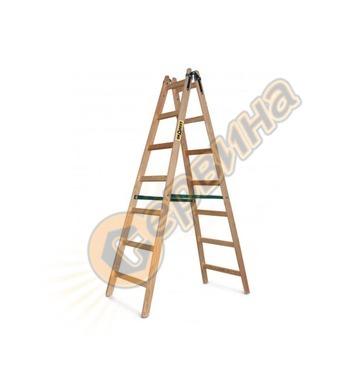 Дървена стълба двураменна 2х6бр Vakas 31030005 - 2.25 метра