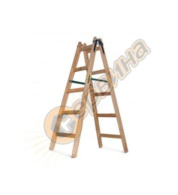 Дървена стълба двураменна 2х7бр Vakas 31030006 - 2.5 метра