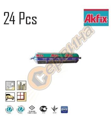 Силикон универсален САЛАМ 24бр 100E Akfix бял 300мл 100E/SA3