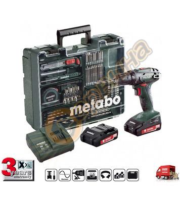Акумулаторен винтоверт Metabo BS 18 SET 602207880 - 18V/2.0A