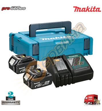 Акумулаторен комплект батерии и зарядно Makita 196866-5 - 18