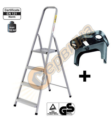 Алуминиева домакинска стълба Drabest 03090051 - 5+1бр