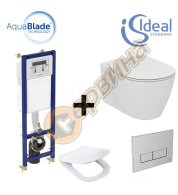 Структура за вграждане Ideal Standart W3710AA + Тоалетна чин