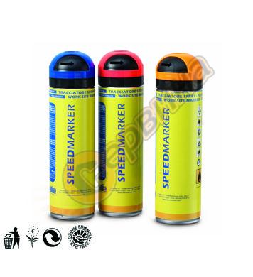 Маркиращ флуоресцентен спрей ЧЕРВЕН Ausonia AU47861 - 500мл