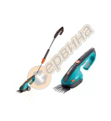 Комплект акумулаторна ножица за трева и храсти с телескопичн