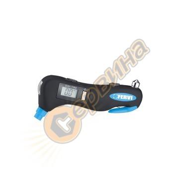 Дигитален манометър за гуми Fervi 0543 - 0.21-10.34 bar