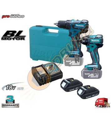 Комплект акумулаторни машини Makita DLX2006C - 18V/1.3Ah Li-