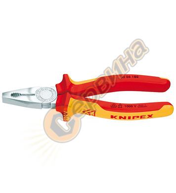 Професионални комбинирани клещи усилени Knipex 03 06 180 - 1