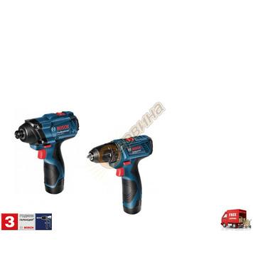 Комплект акумулаторни машини Bosch GSR 120 Li 06019F0002 + G