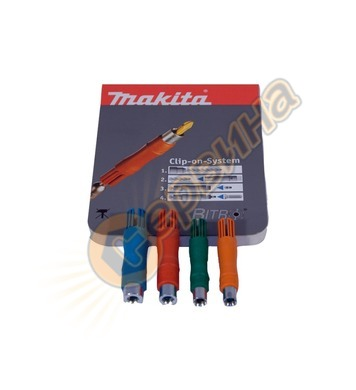 Комплект преходници Makita P-39556 SDS-Plus - 1/4 40броя