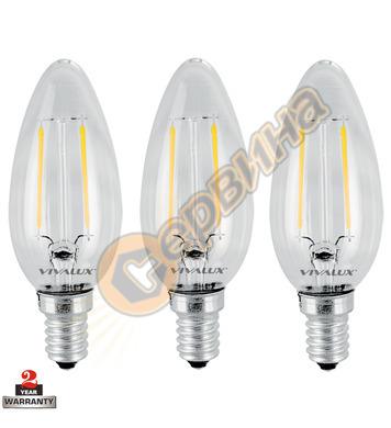 LED лампа Vivalux Flik LED - Bf 35 LED 003564 - 2 W - 3бр