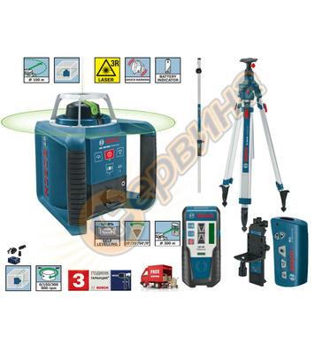 Ротационен лазерен нивелир Bosch GRL300HVG 061599404B - 100