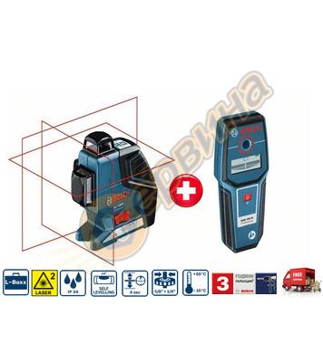 Линеен лазерен нивелир Bosch Gll 3-80P 0601063305 + Детектор
