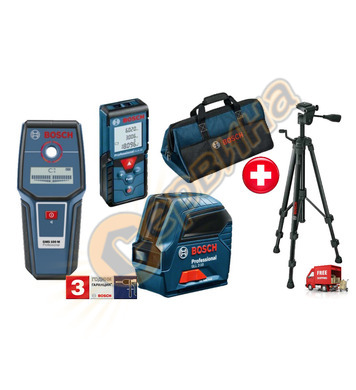Комплект Bosch Лазерен нивелир Gll2-10 + Детектор за напреже