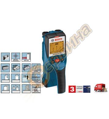 Детектор - скенер за стени Bosch D-tect 150 0601010005 - 4x1