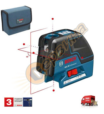Лазерен нивелир Bosch Gcl 25 0601066B00 - 30м