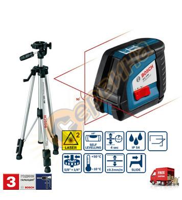 Линеен лазерен нивелир Bosch Gll 2-50 0601063105 - 50м