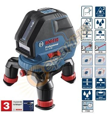 Линеен лазерен нивелир Bosch Gll 3-50 06159940CF - 10м