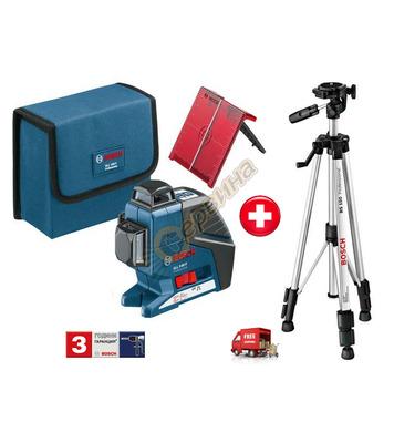 Линеен лазерен нивелир Bosch Gll 3-80P 0601063306 - 40 м