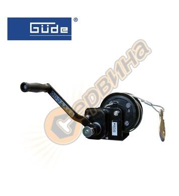 Ръчна лебедка GUDE 720кг 20м стоманено въже 55126