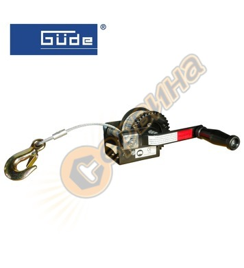Ръчна лебедка Gude 360кг 10м стоманено въже 55125
